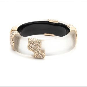Alexis Bittar Crystal Hinged bangle (Gold)